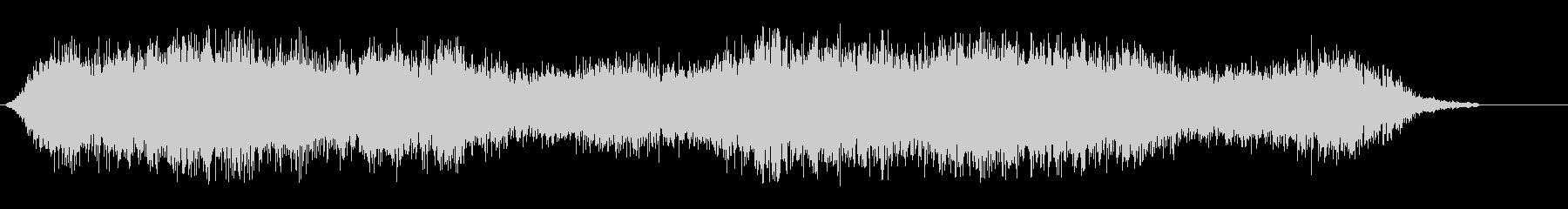 シャシャシャ(紙が擦れるような効果音)の未再生の波形