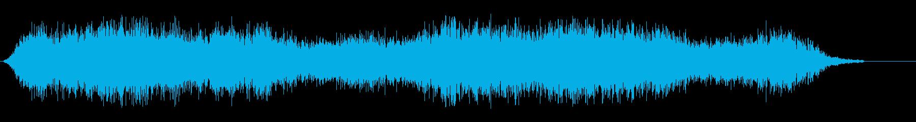 シャシャシャ(紙が擦れるような効果音)の再生済みの波形