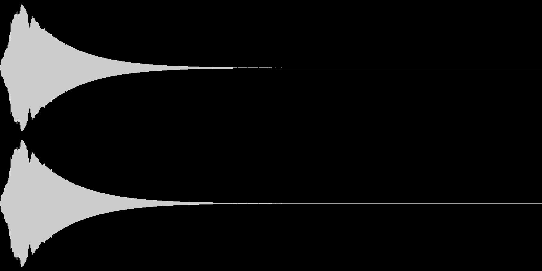 ピューン(低下_ダウン_長め)の未再生の波形