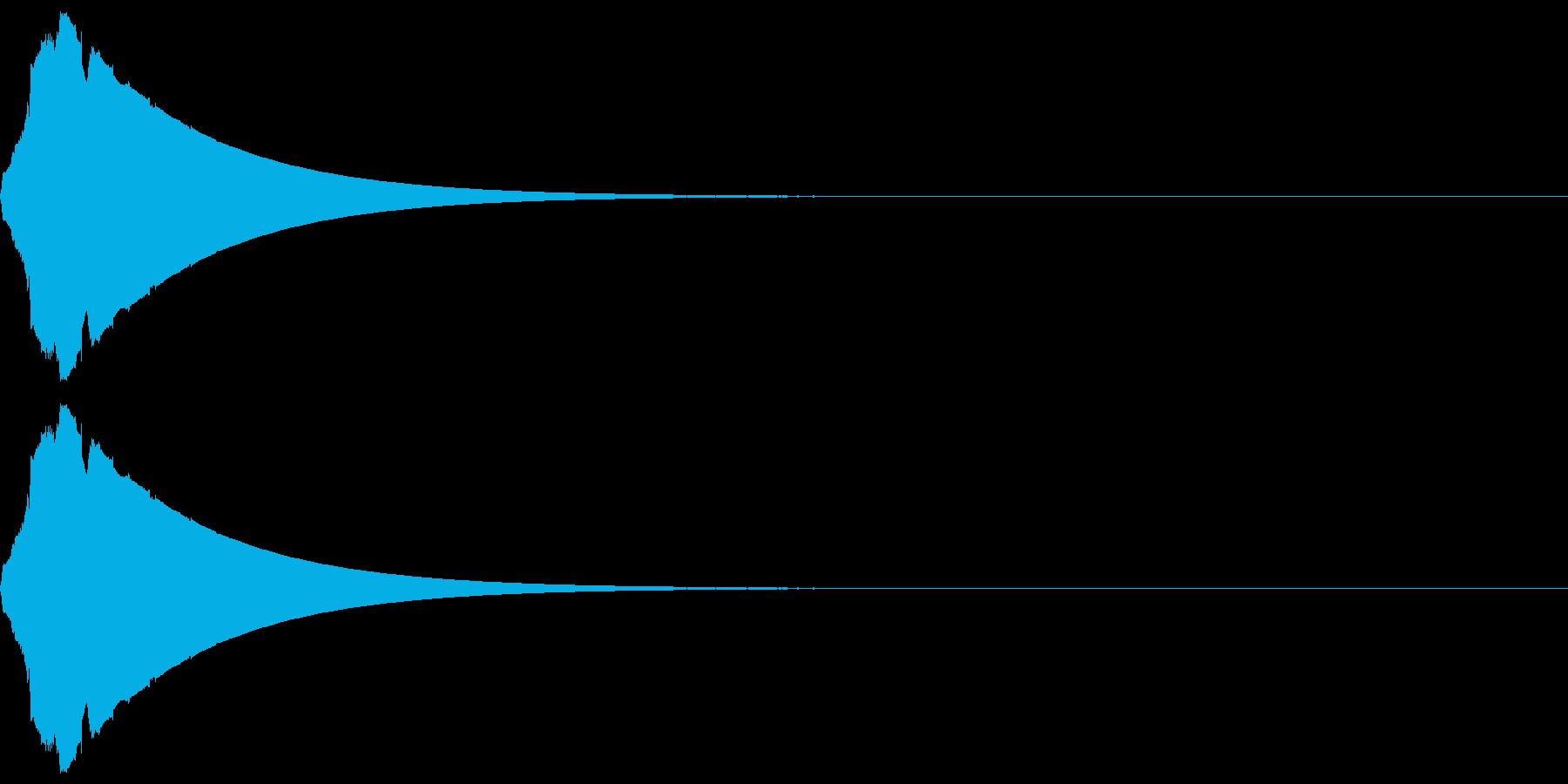 ピューン(低下_ダウン_長め)の再生済みの波形