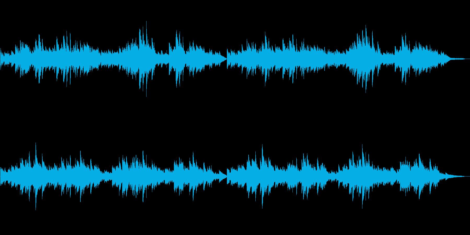 童謡「われは海の子」シンプルなピアノソロの再生済みの波形