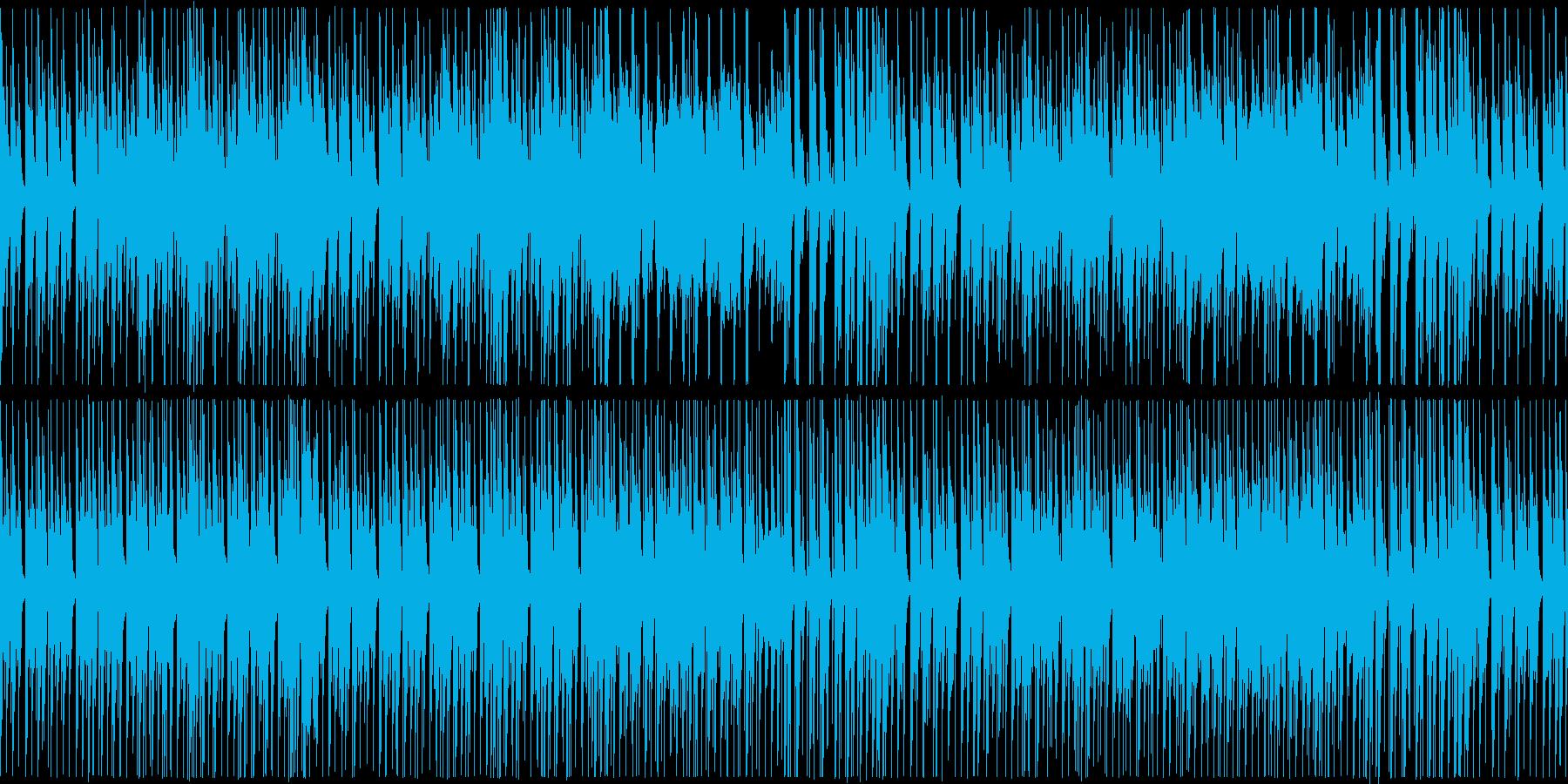 よっこらせとお散歩するようなほのぼの曲の再生済みの波形