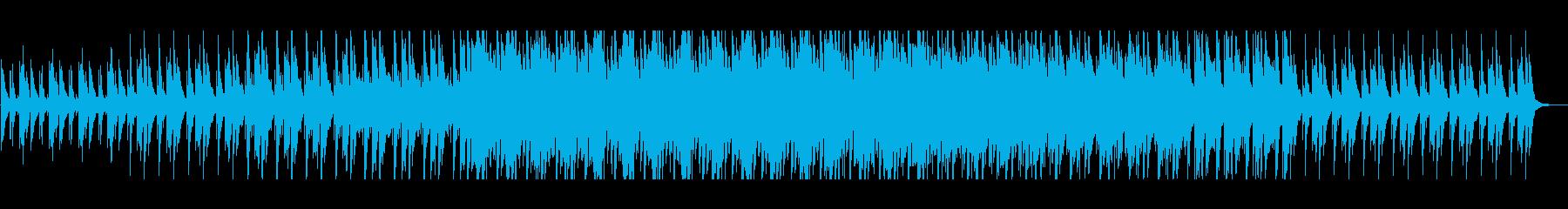 木琴とピアノの浮遊感あるループした曲の再生済みの波形