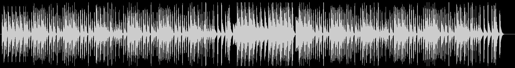 可愛いマレット曲の未再生の波形