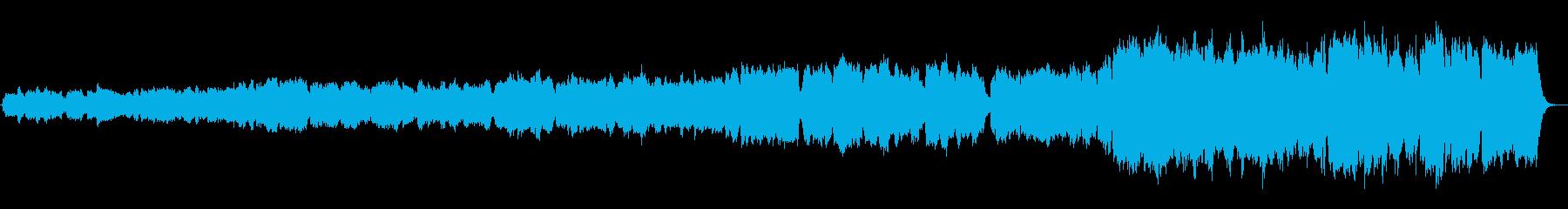 展開部があるパイプオルガン前奏曲の再生済みの波形