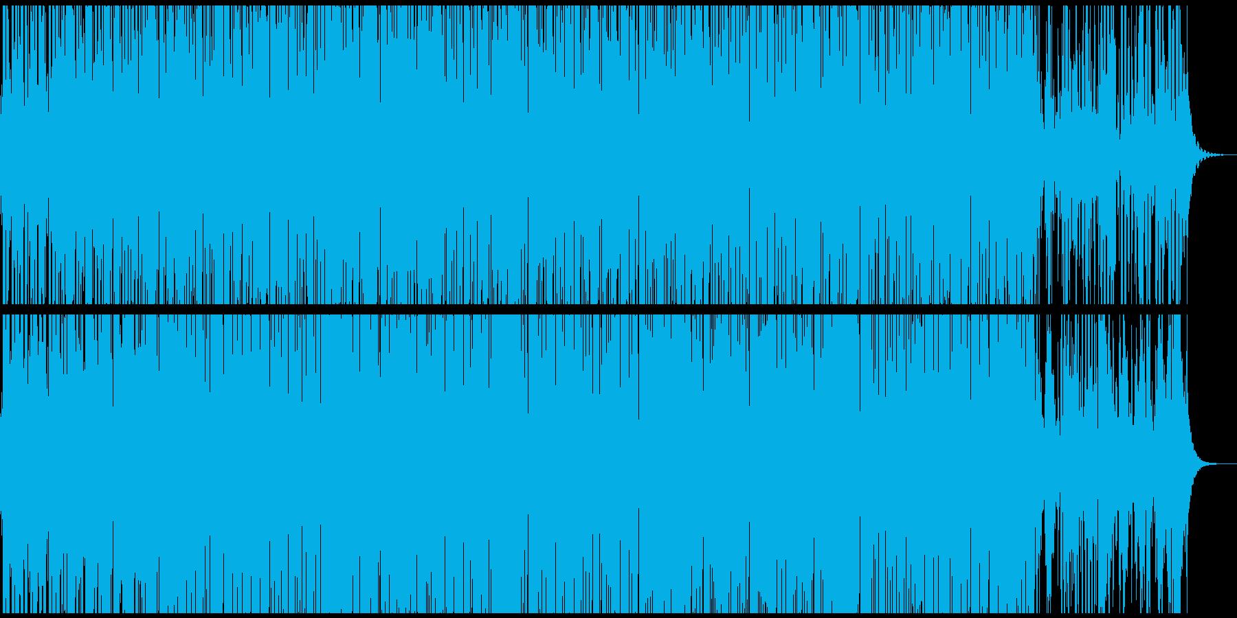 不気味で怪しいホラーなシンセサウンドの再生済みの波形