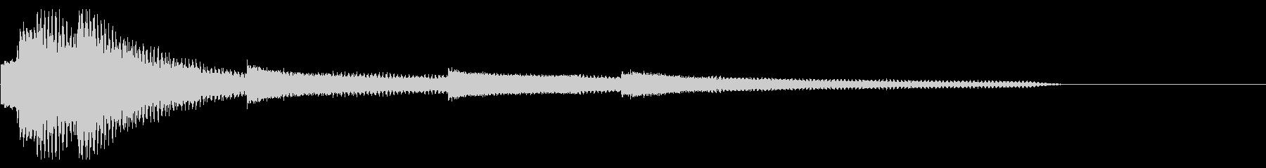 綺麗で美しいピアノのサウンドロゴの未再生の波形