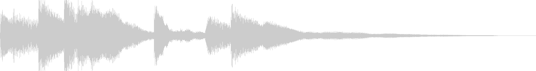 シンプルなジングル【ピアノ】その6です。の未再生の波形