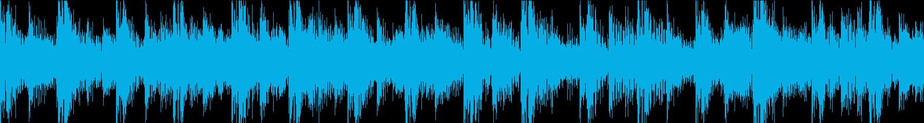 ファンキーなハウスビートとシンセア...の再生済みの波形