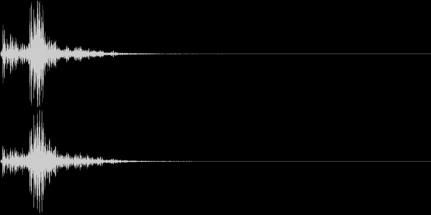 【生録音】蹴る音 キック 再現音 6の未再生の波形