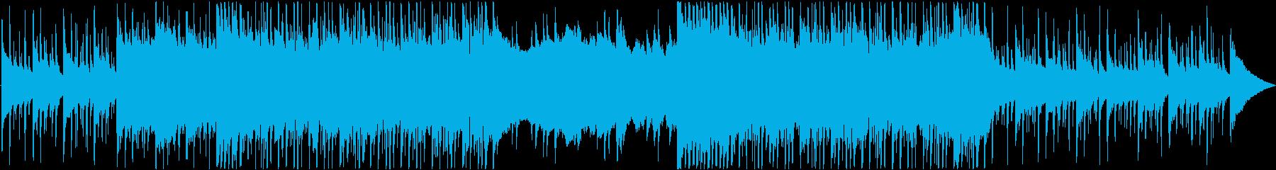 洋楽っぽさのあるクールなロックBGMの再生済みの波形