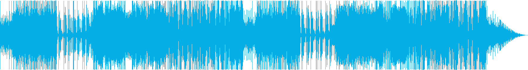 スラップベースが特徴的なファンキーな曲の再生済みの波形