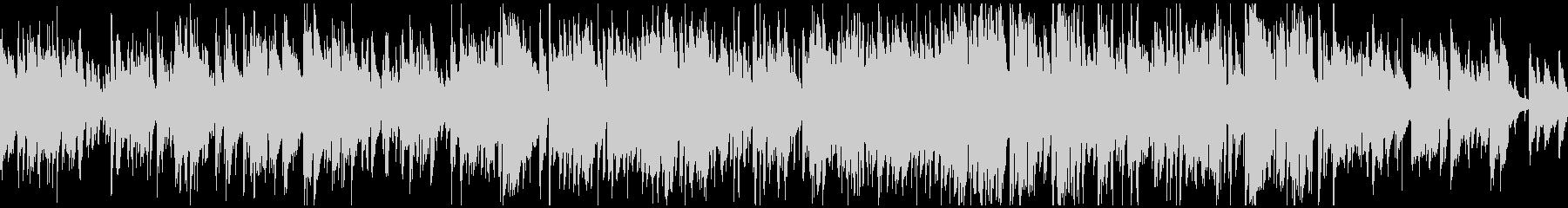軽快アコースティックジャズ ※ループ版の未再生の波形