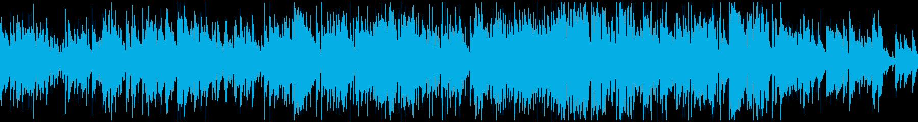 軽快アコースティックジャズ ※ループ版の再生済みの波形