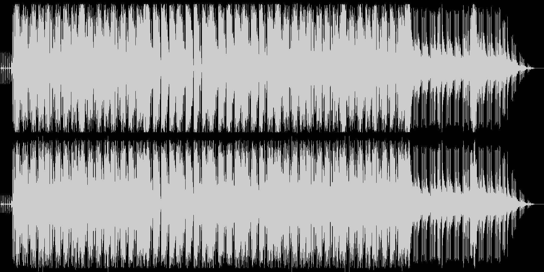 ドラムとギターのかっこいいファンクの曲の未再生の波形