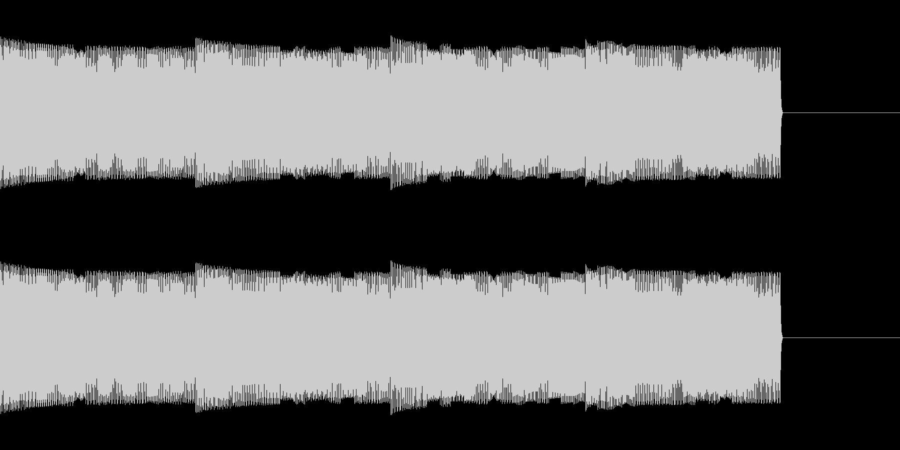 コンピューターの音の未再生の波形