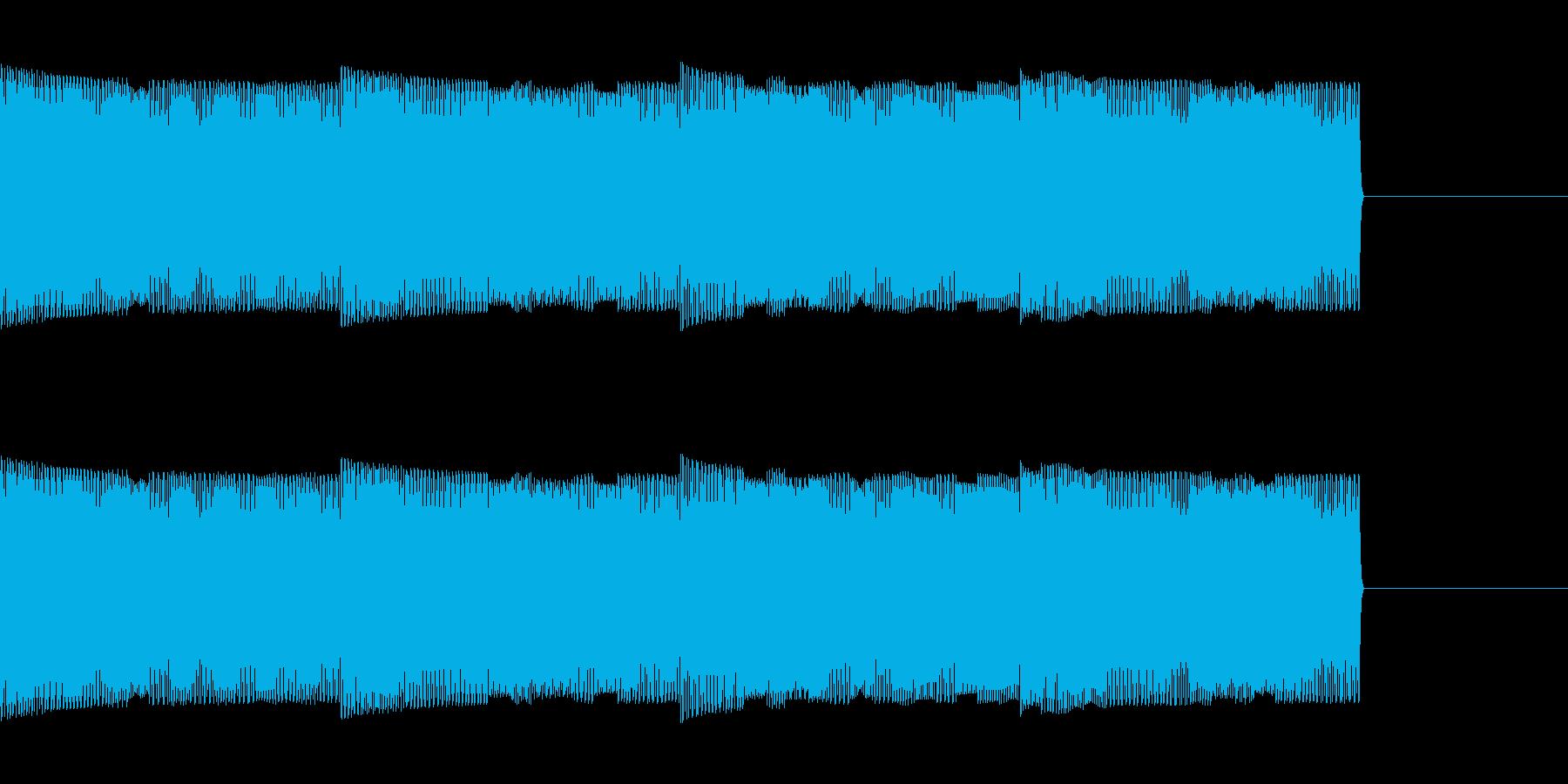 コンピューターの音の再生済みの波形