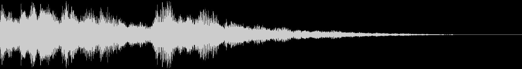 クリアな効果音の未再生の波形