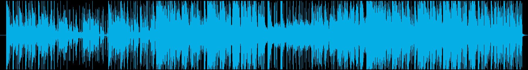 ポップスで悲しい曲の再生済みの波形