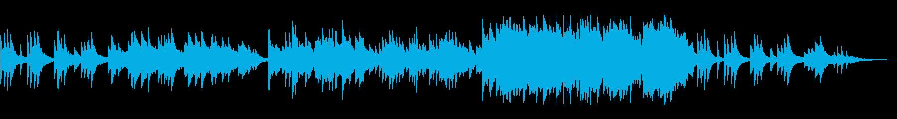 ノスタルジックなピアノバラードの再生済みの波形