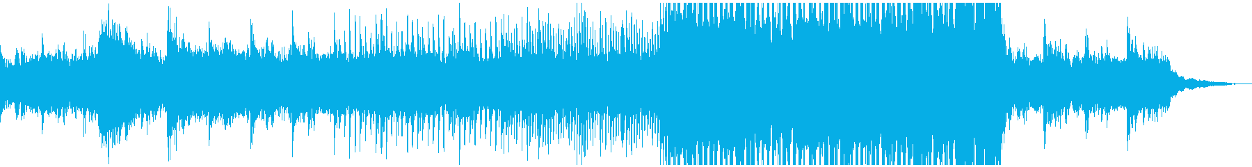 SF感のあるBGMの再生済みの波形