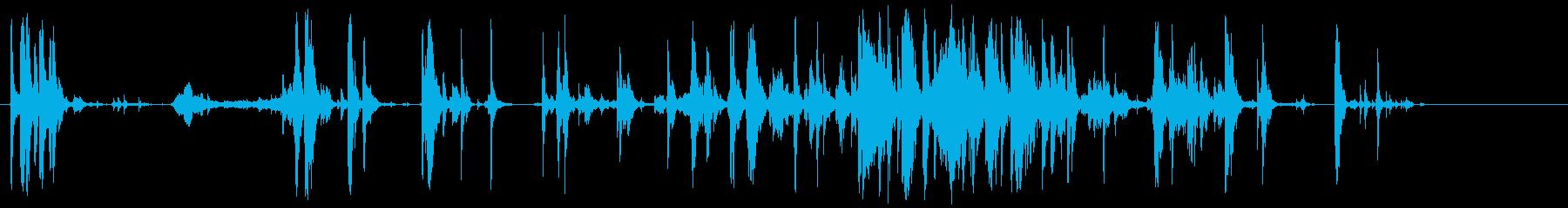 戦闘シーン-2人の男性-うめき声-...の再生済みの波形