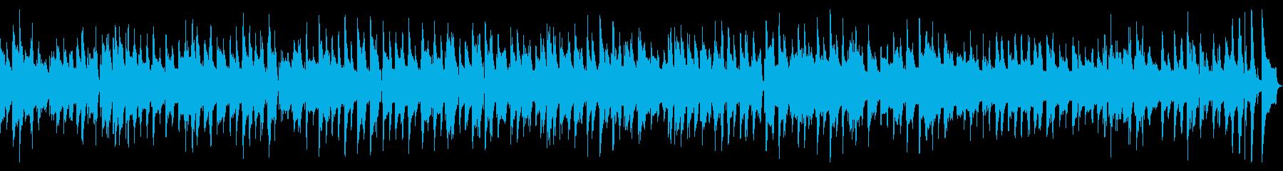 ピアノとギターのまったりジャズの再生済みの波形