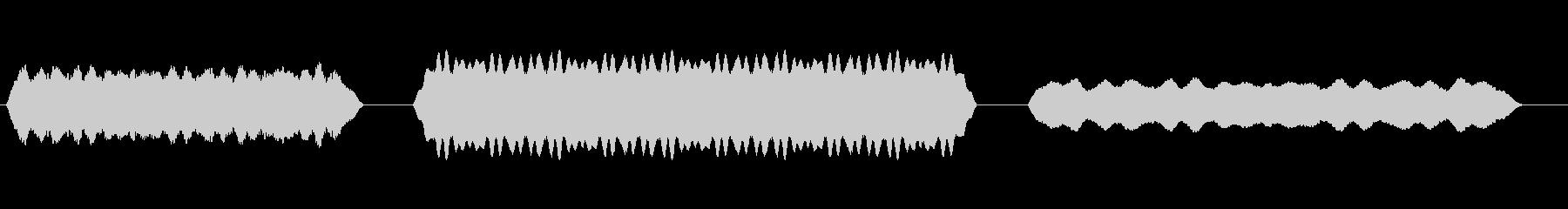 電気背景ハム(3バージョン)の未再生の波形