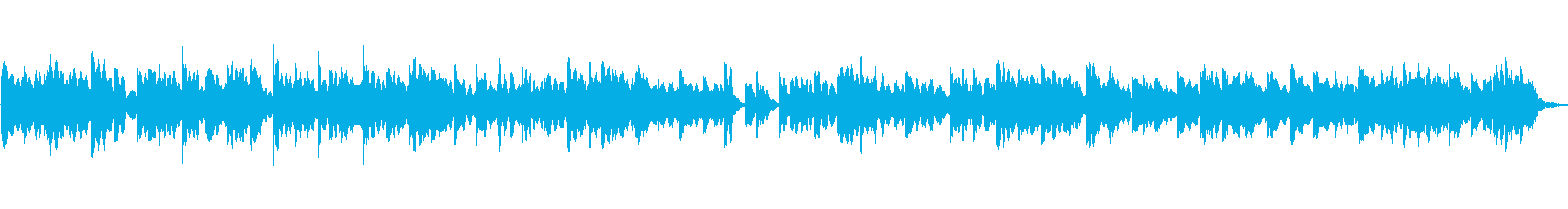ゆっくりで暖かい安らぐオルゴールの曲の再生済みの波形