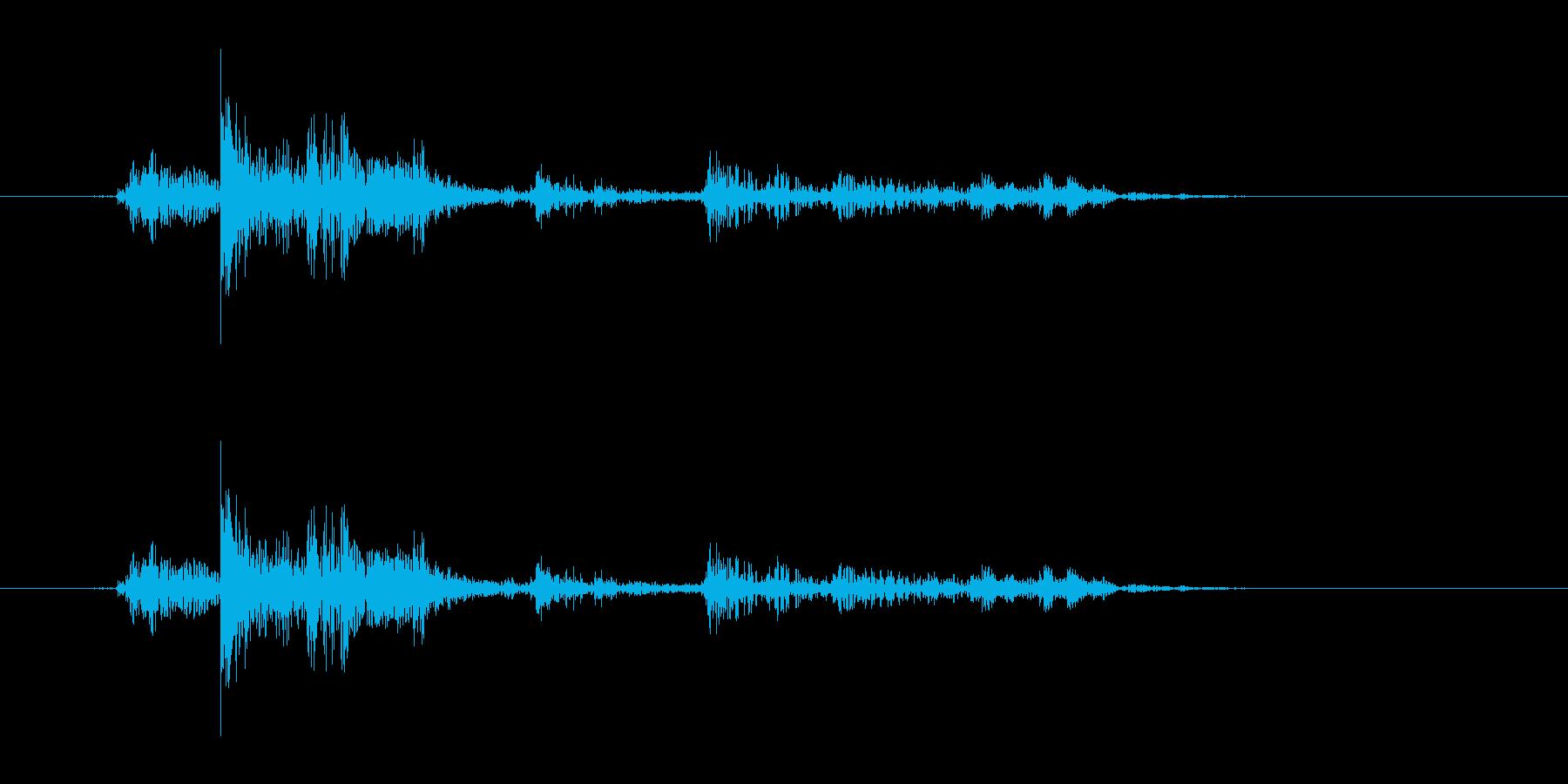 ガチャ(ドアの開閉音.02)の再生済みの波形