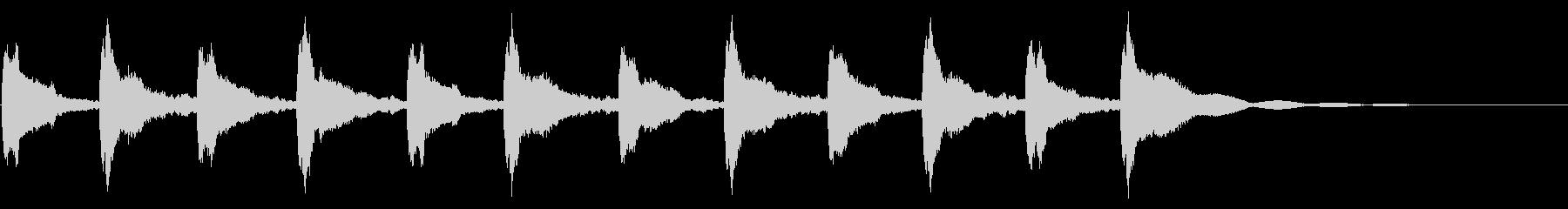 メルトンチャーチベル5:リンギングの未再生の波形