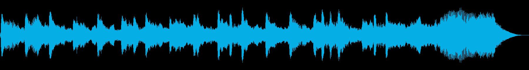 ほのぼのした王様の昼下がり30秒BGMの再生済みの波形