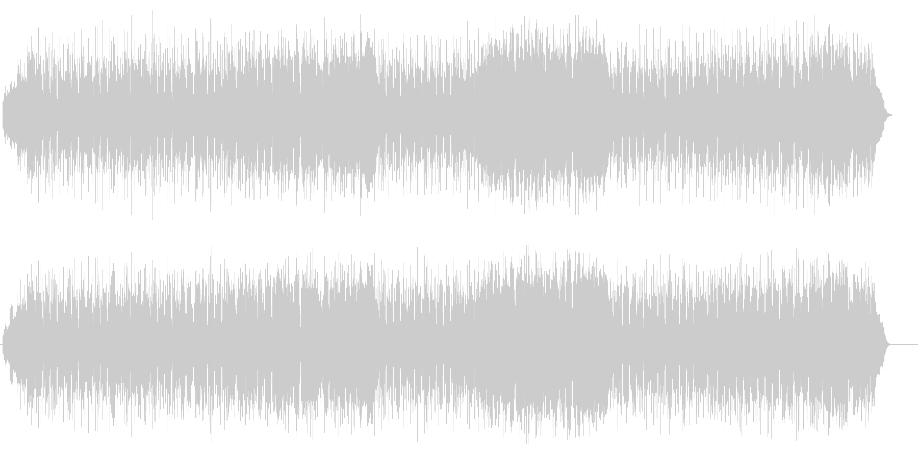 オチャメな和風ポップス(三味線サウンド)の未再生の波形
