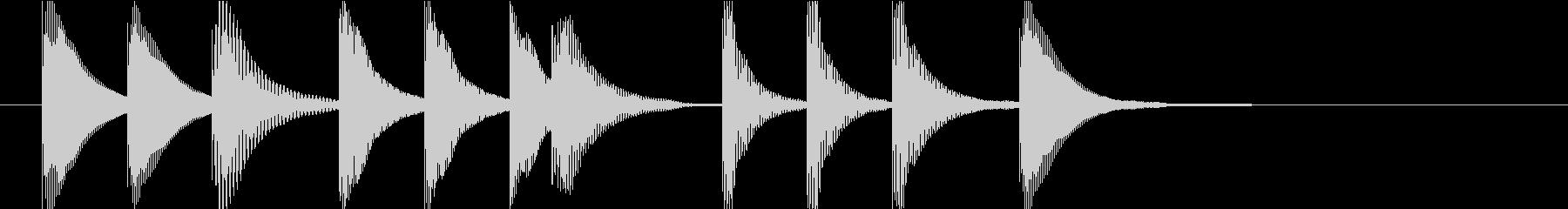 マリンバのクエスト・ミニゲームクリア音1の未再生の波形