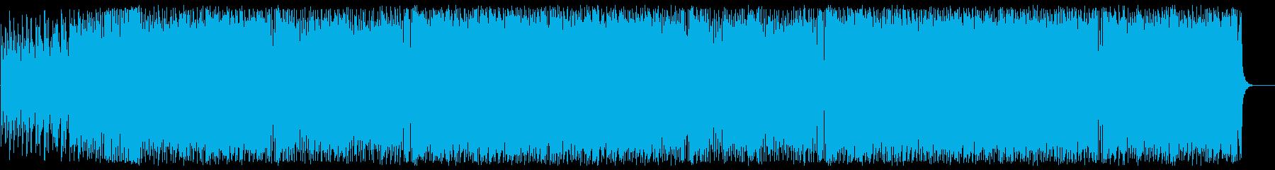シックであり軽快で和を感じるBGMの再生済みの波形