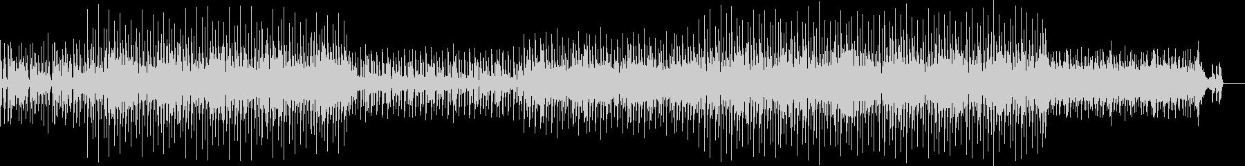 未来感を感じるビートBGMの未再生の波形