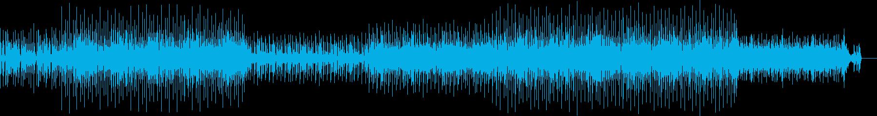 未来感を感じるビートBGMの再生済みの波形