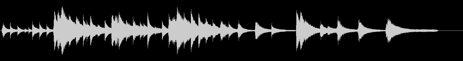 憂鬱な雰囲気のピアノソロの未再生の波形