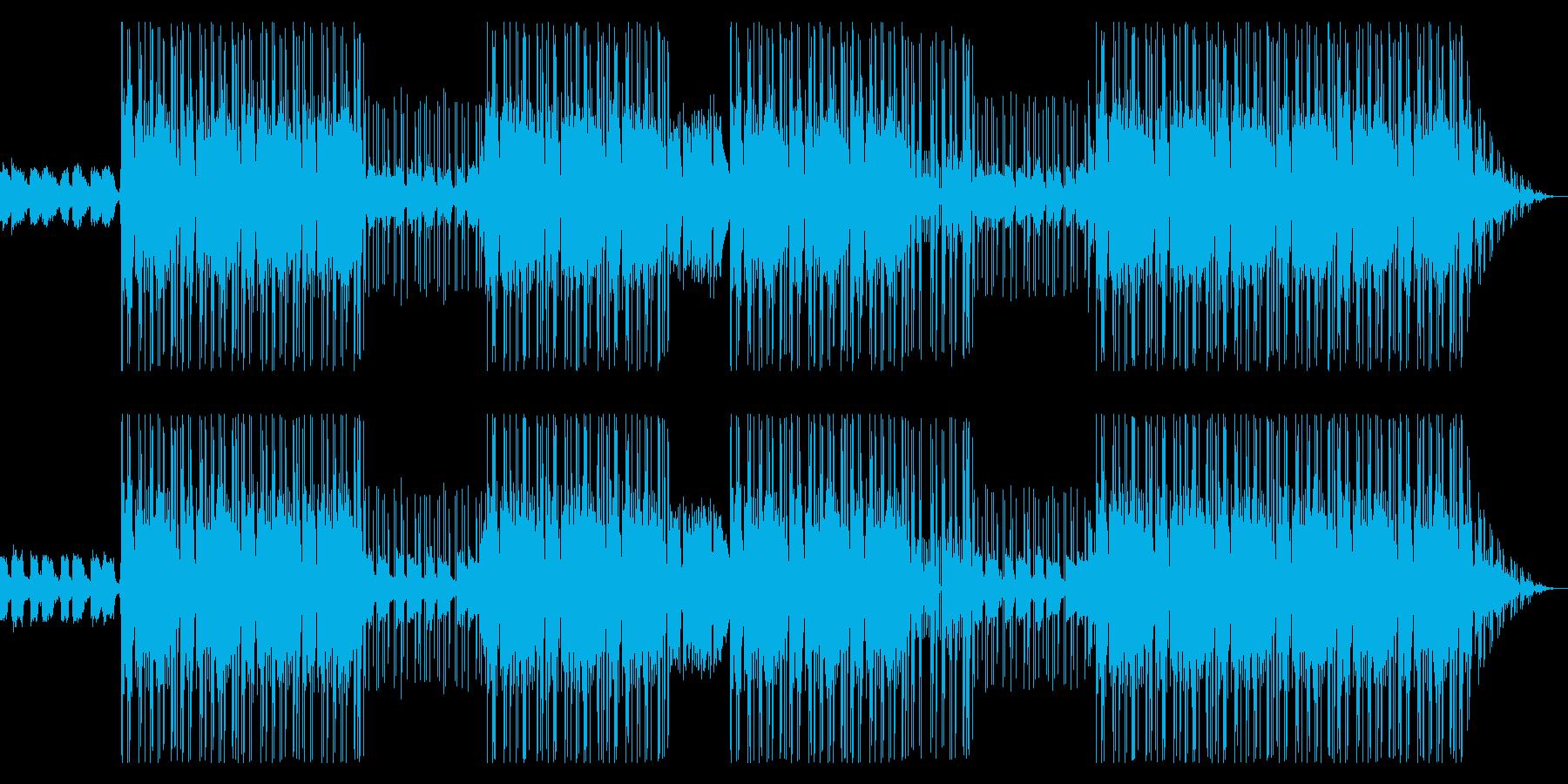 ゆったりとしたローファイヒップホップの再生済みの波形