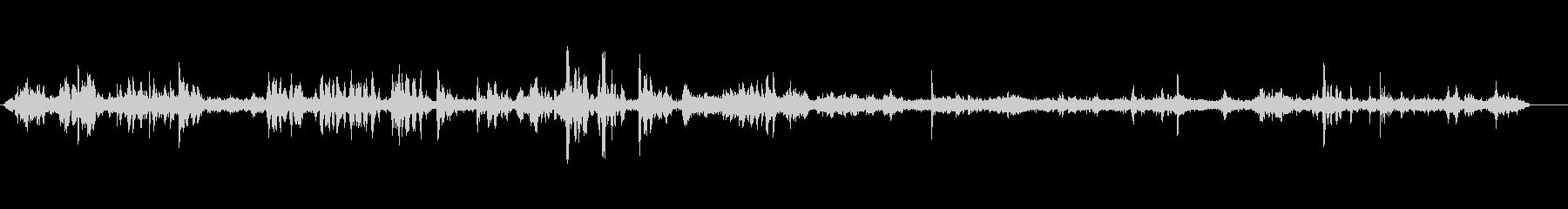 せせらぎの声の未再生の波形