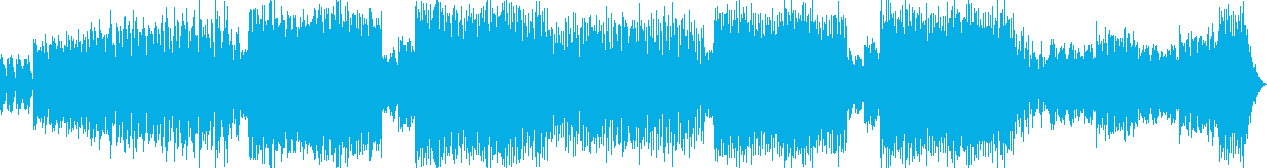 EDM調のBGMの再生済みの波形