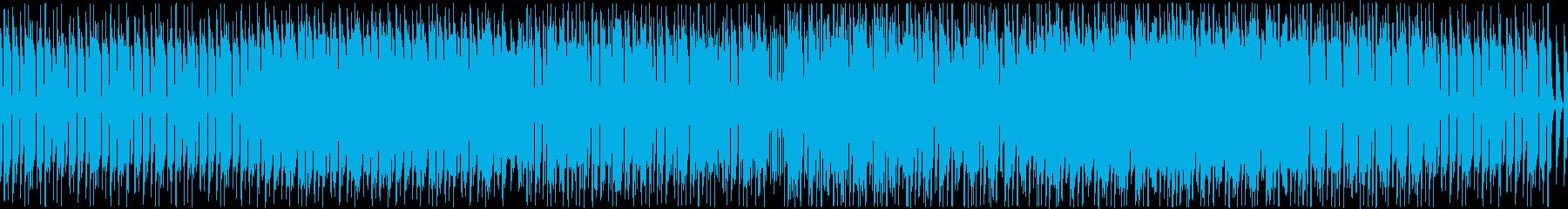 無機質で重厚なミニマルテクノの再生済みの波形