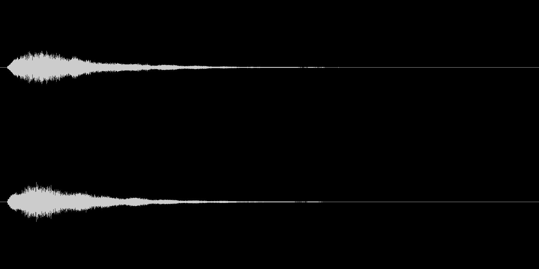 テロップの音・決定音・キラキラーンの未再生の波形