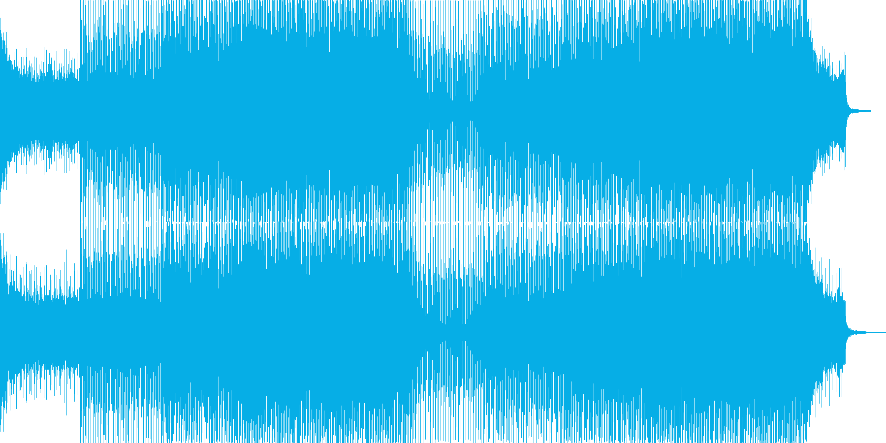 EDMクラブ系ダンスミュージック-23の再生済みの波形