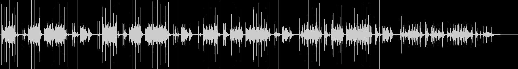 波音でリラックス、南の島、ビブラフォンの未再生の波形