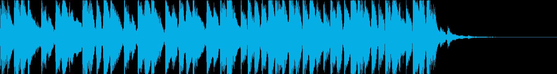 爽やかなウクレレジングルの再生済みの波形
