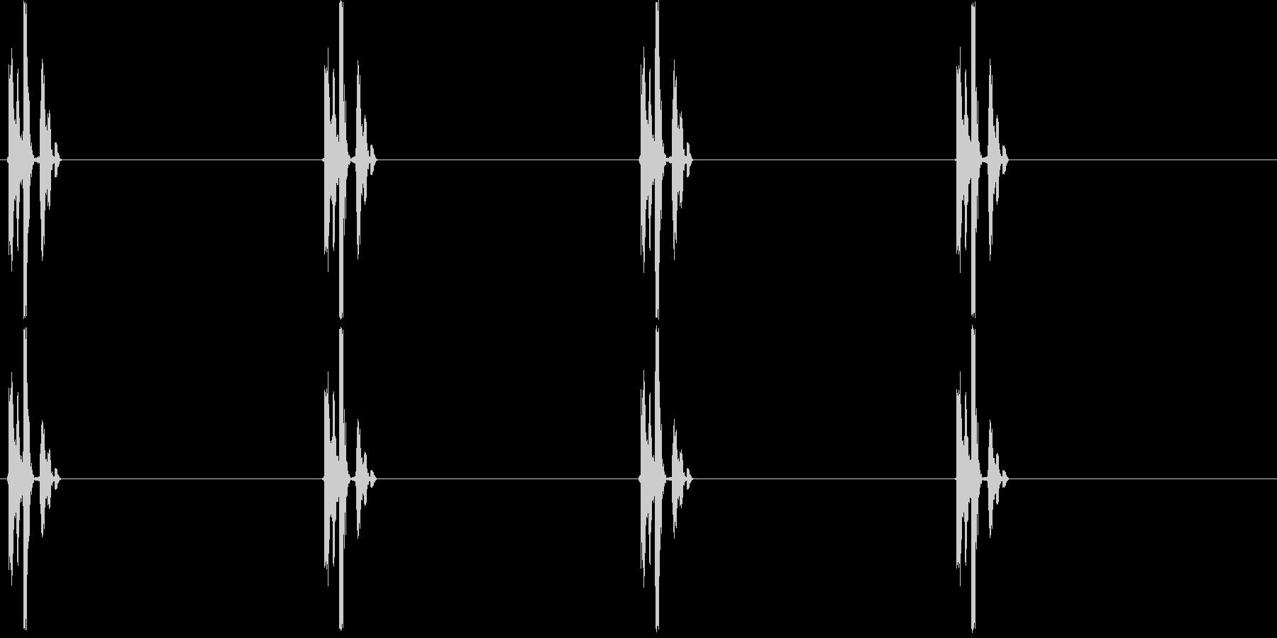 チク・・・タク・・・(時計、ゆっくり)の未再生の波形