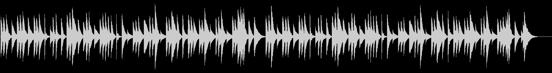 ブラームスの子守唄 18弁オルゴールの未再生の波形