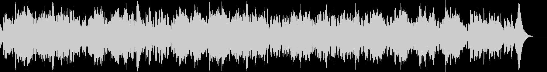 オルゴール音色のヒーリング音楽の未再生の波形