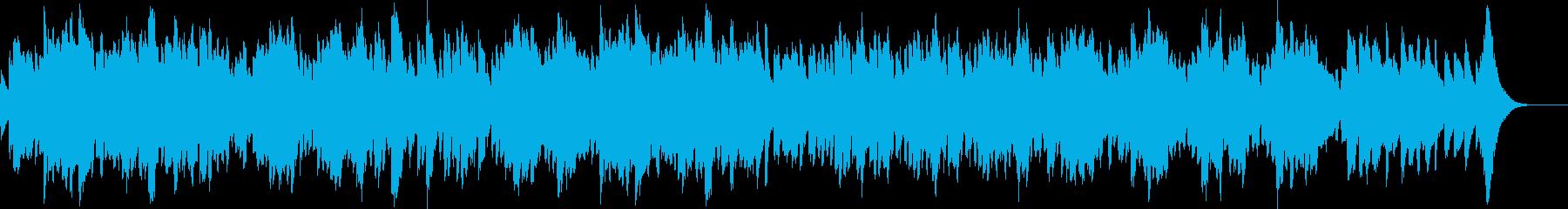 オルゴール音色のヒーリング音楽の再生済みの波形